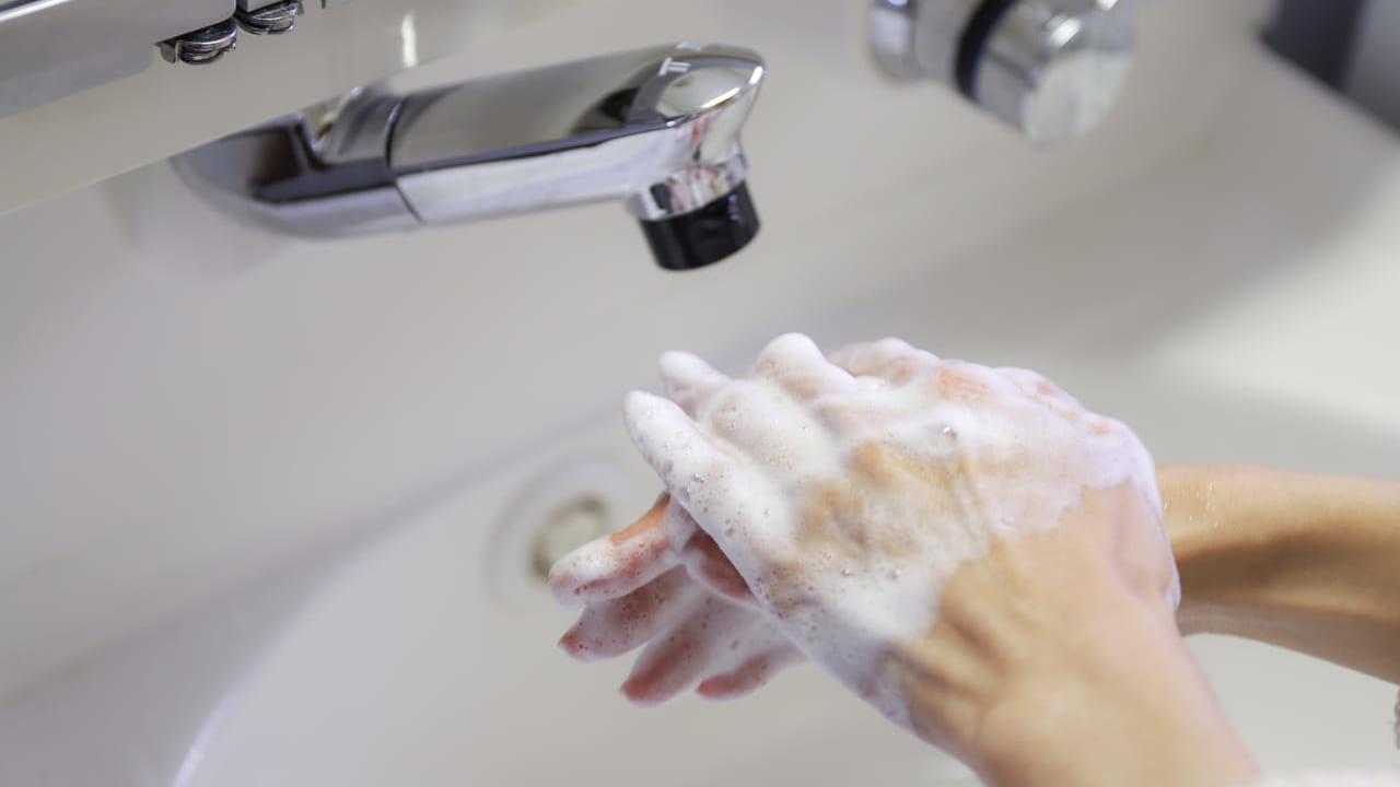 コロナウィルス予防に手洗い